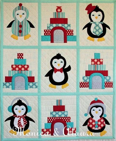Penguin Party Cot Quilt